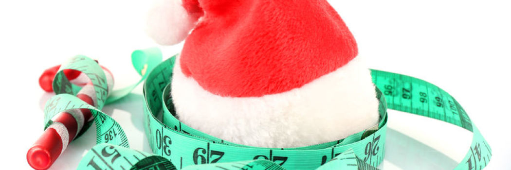 Santa hat with a measuring tape
