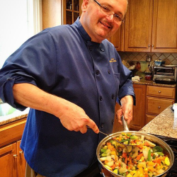 Chef Joseph cooking