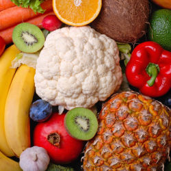 Fruits and vegetables are vital for healthy eating