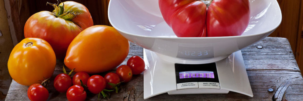 healthy food being measured on a scale