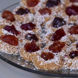 Almond Oat Cookies with Fruit Filling