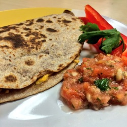 Recipeasy black bean and yam quesadillas 250x250