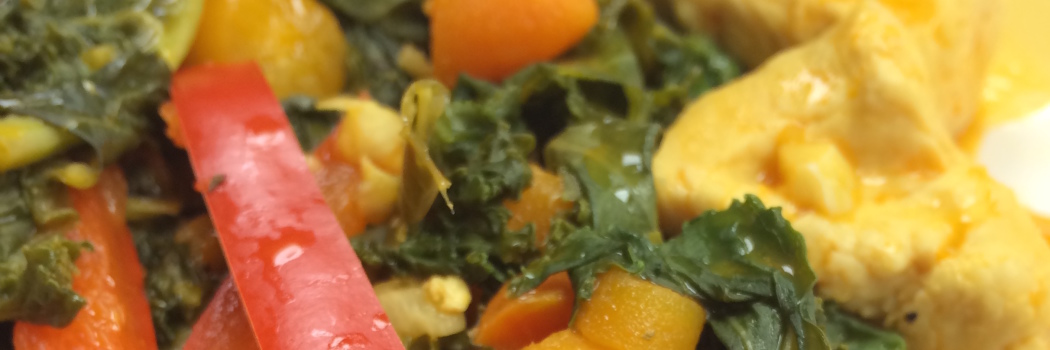 Recipeasy: Zesty Chicken with Steamed Kale