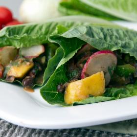 Baja mango black bean lettuce wraps 280x280