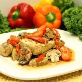 Baked tofu with mushroom wine sauce 280x280