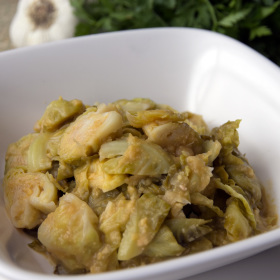 Brussel sprouts with garbanzo sauce 280x280