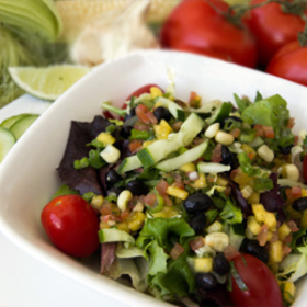 Caribbean black bean salad 280x280