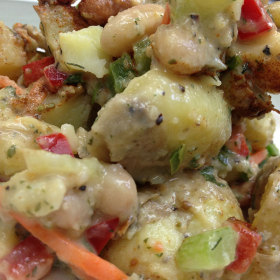 Chived bean and potato salad 280x280