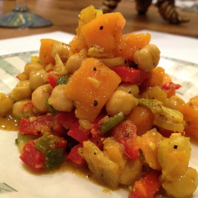 Curried chickpeas and sweet potatoes 280x280