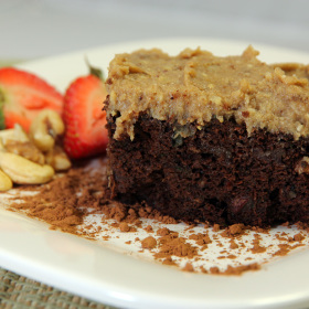 Healthy chocolate cake 280x280