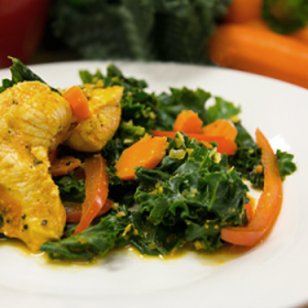 Orange kale and chicken 280x280