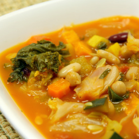 Quick hearty vegetable bean soup 280x280