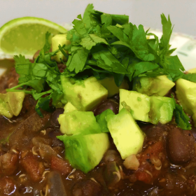 Quinoa black bean chili 280x280
