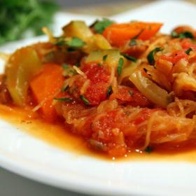 Spaghetti squash primavera 280x280