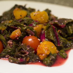 Swiss chard with orange zest garlic 280x280