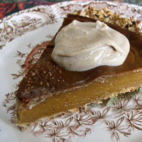 Thanksgiving pumpkin pie with oat crust 280x280