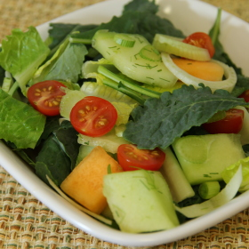 Tossed greens fennel and fruit salad 280x280