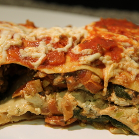 Vegetable lasagna 280x280